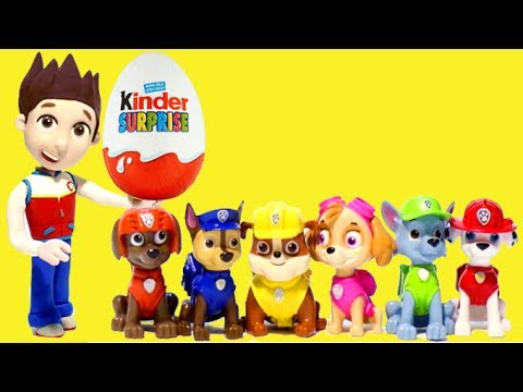 Thumbnail: Paw Patrol and Surprise egg Stop motion finger family Nursery Rhymes for Kids