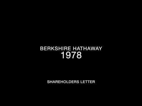 Berkshire Hathaway 1978 Shareholders Letter