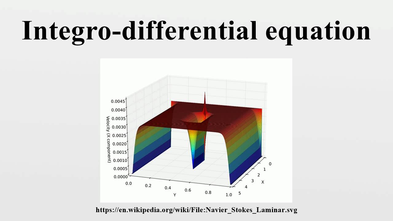 INTEGRO-DIFFERENTIAL EQUATIONS PDF