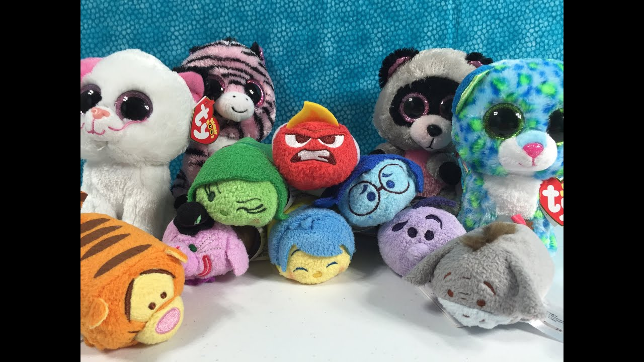 Disney Tsum Tsum Inside Out Exclusives Plus New Ty Beanie