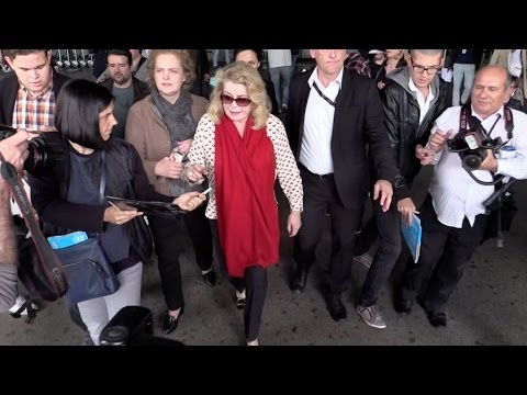 EXCLUSIVE: Catherine Deneuve arriving at Cannes airport for the festival