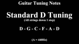 Guitar Tuning Notes - 1 Step Down