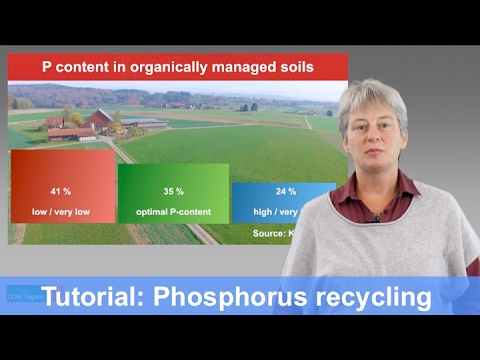 Tutorial: Phosphorus  recycling for organic agriculture (CORE Organic/Improve-P)