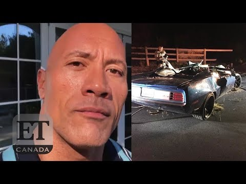 Dwayne Johnson Reacts To Kevin Hart's Car Crash