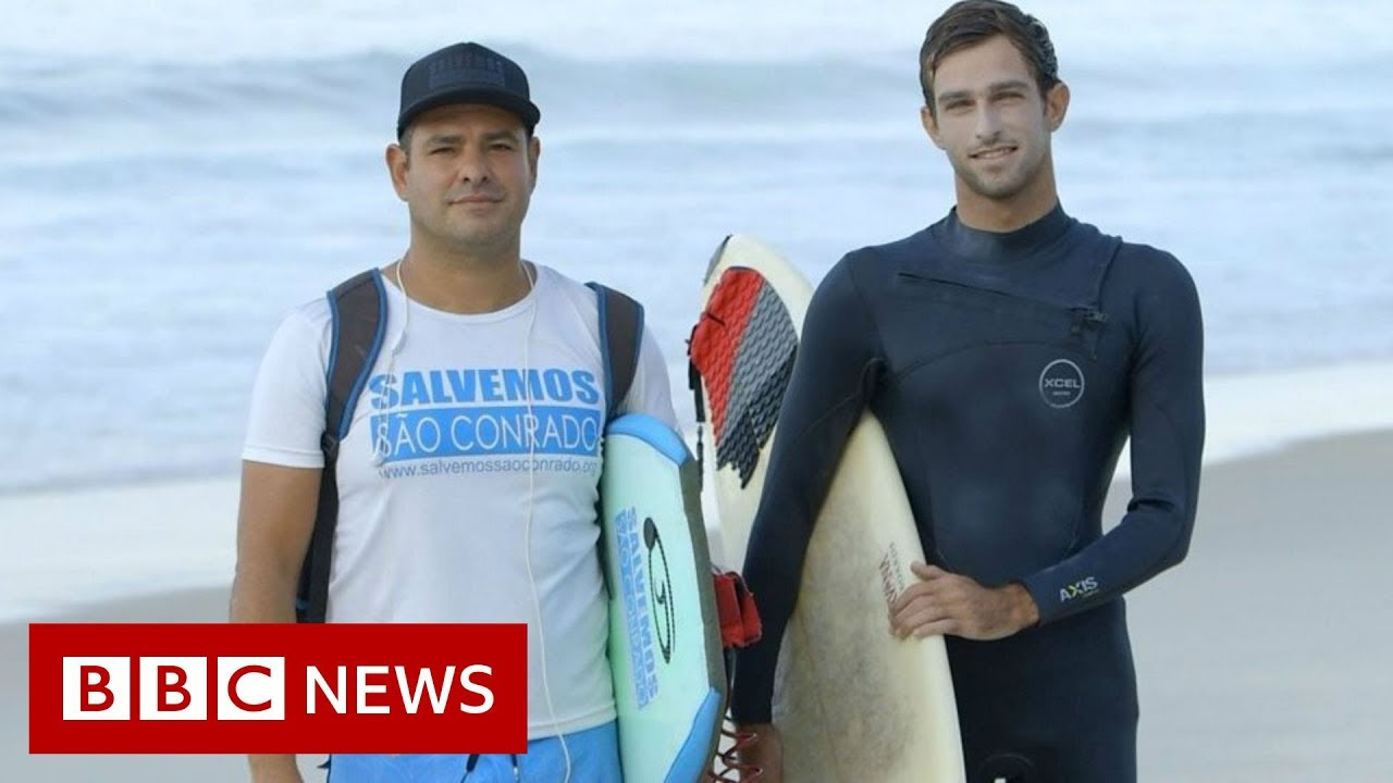 BBC News:Why a love of surfing brings rich and poor together in Rio - BBC News