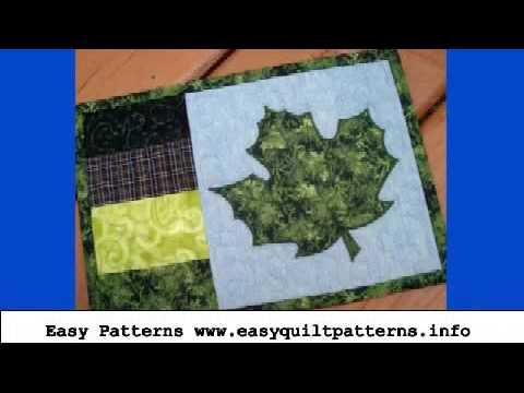 Maple leaf applique quilt pattern free quilt ideas youtube