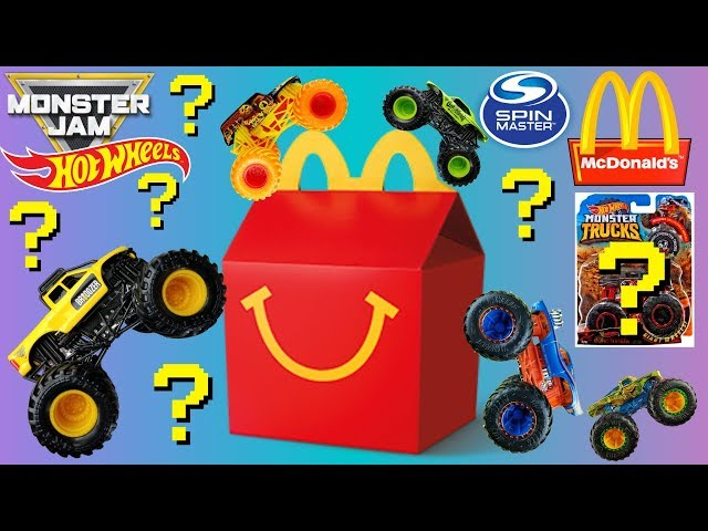 Monster Jam Monster Trucks Mcdonalds Happy Meal with Hot Wheels and Spin Master Trucks for Kids