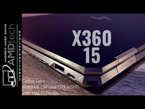 HP Spectre x360 15 (Gem-Cut):  Coffee Lake + NVIDIA GTX 1050ti with Max Q