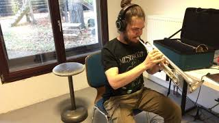 """Meshuggah's """"Ivory Tower"""" Guitar Solo on Trumpet"""