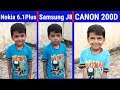 Nokia 6.1 Plus vs Samsung Galaxy J8 vs Canon 200D Camera Comparison