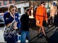 Women Street style color trends 2018