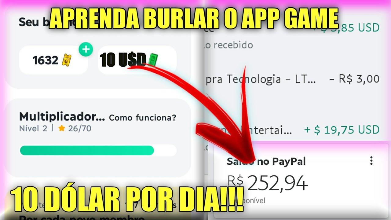 💸COMO BURLAR O APP GAME E GANHAR ATÉ 10 DÓLAR POR DIA NO PAYPAL!!!