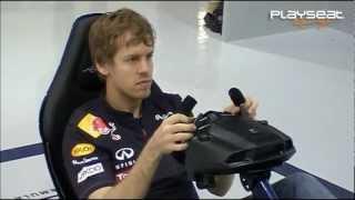 Sebastian Vettel Testing the Playseat Red Bull Racing