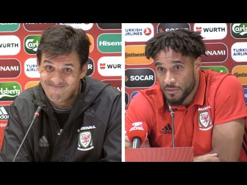 Chris Coleman & Ashley Williams - Pre-Match Press Conference - Georgia v Wales - WC Qualifying