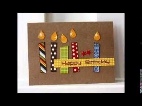 Birthday Card Craft YouTube – Birthday Cards Craft
