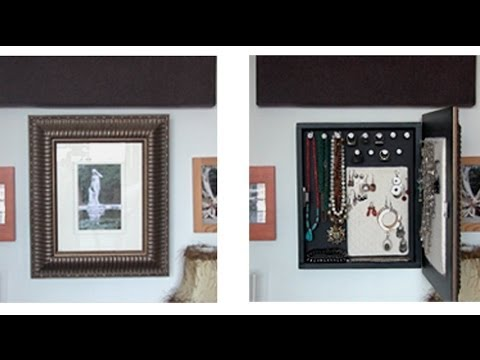 How To Make A Diy Jewelry Organizer Youtube