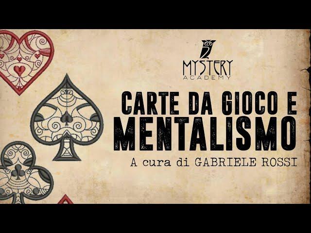 CARTE DA GIOCO E MENTALISMO!