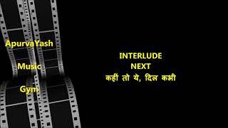 Kahin Door Jab Din Dhal Karaoke Lyrics Scale Lowered