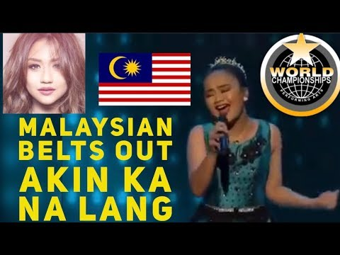 MALAYSIAN SINGER BELTS OUT MORISSETTE AMON 's AKIN KA NA LANG AT WCOPA 2018