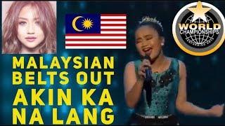 MALAYSIAN SINGER BELTS OUT MORISSETTE AMON 's AKIN KA NA LANG AT WCOPA 2018