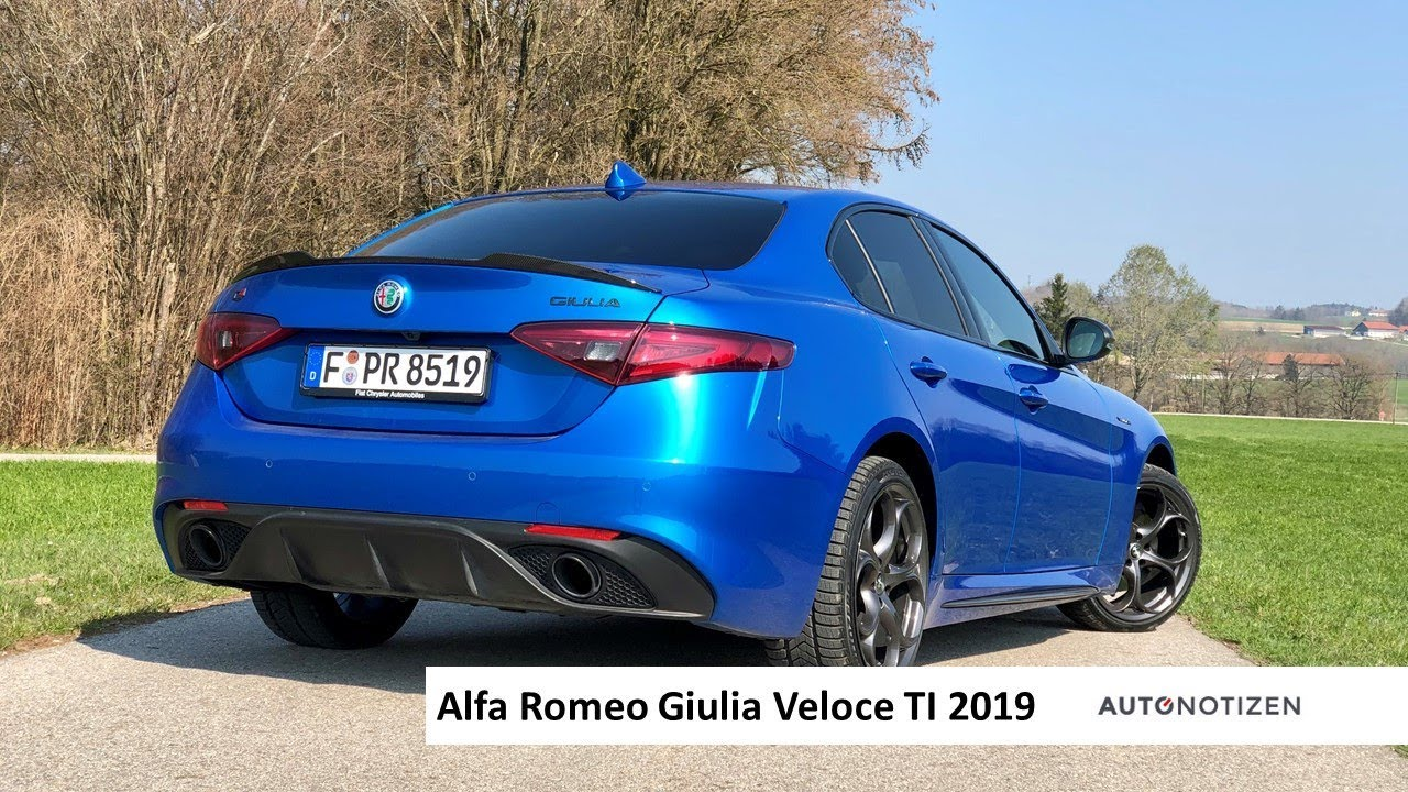 Alfa Giulia Veloce >> Alfa Romeo Giulia Veloce Ti 2 0 Turbo 2019 Testfahrt Review