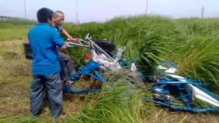 reaper binder small rice wheat harvesting machine