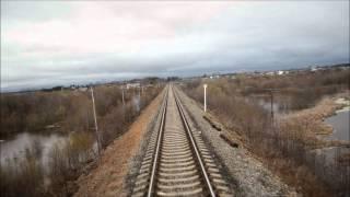 Сольвычегодск - Котлас Северный - Котлас Южный(Вид из последнего вагона., 2012-05-11T09:13:02.000Z)