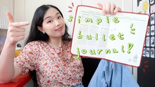 VERY simple bullet journal setup for when you don't have your life together