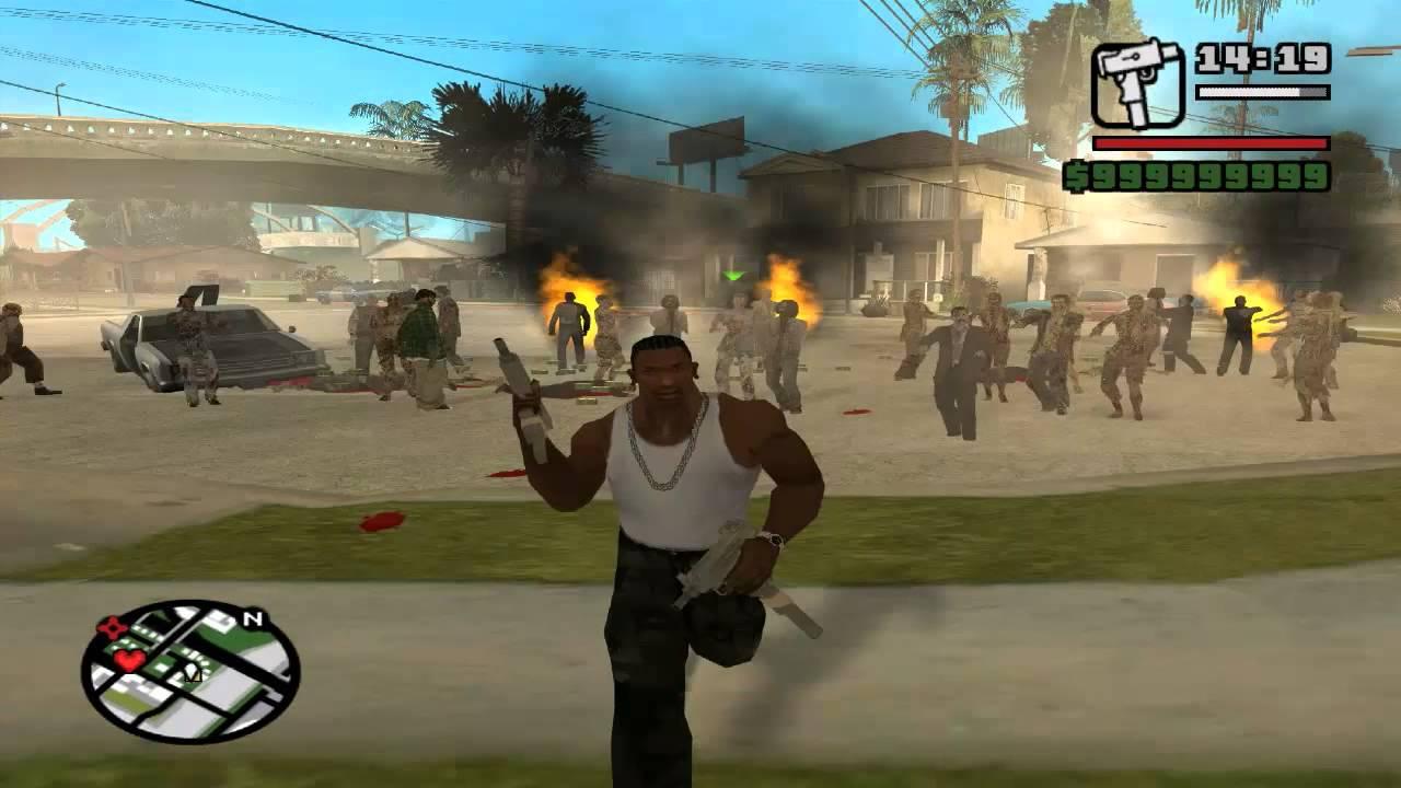 GTA: San Andreas Zombie Alarm Modu Tanıtımı - YouTube
