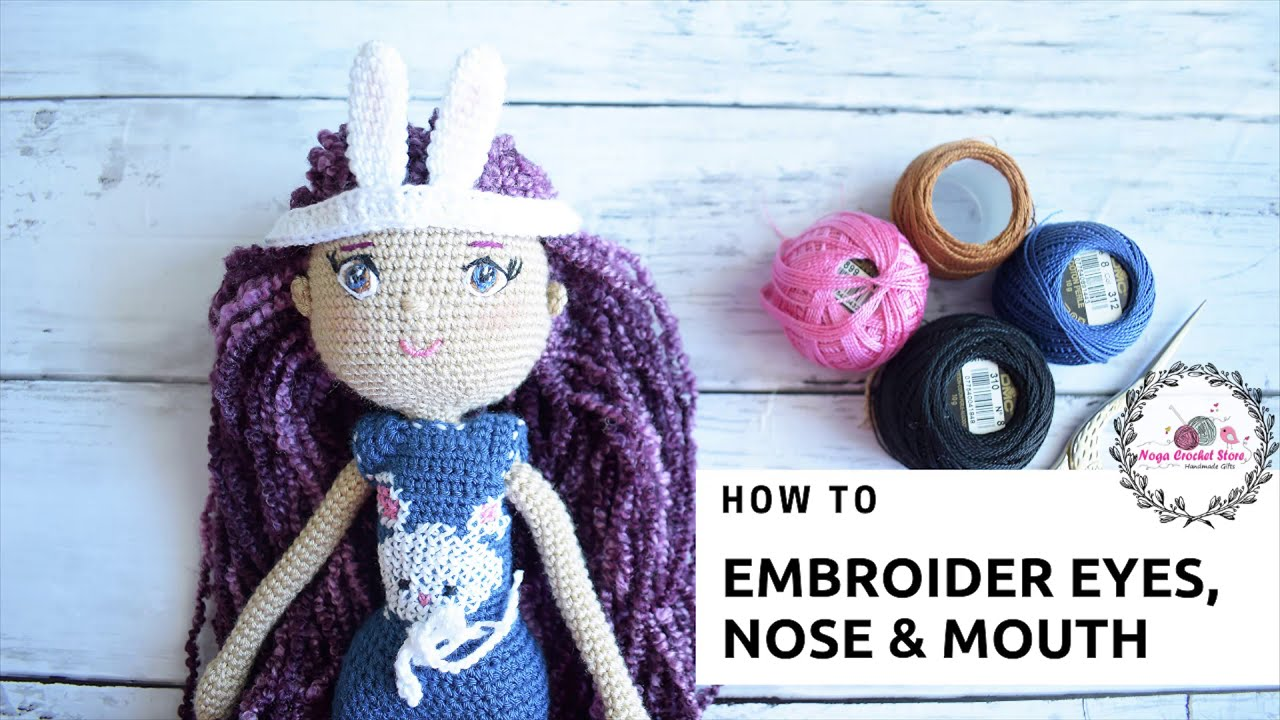 Tutorial - Needle Sculpting an Amigurumi Doll Face | Amigurumi ... | 720x1280