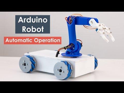 diy-arduino-robotic-arm-&-mecanum-wheels-robot-automatic-operation