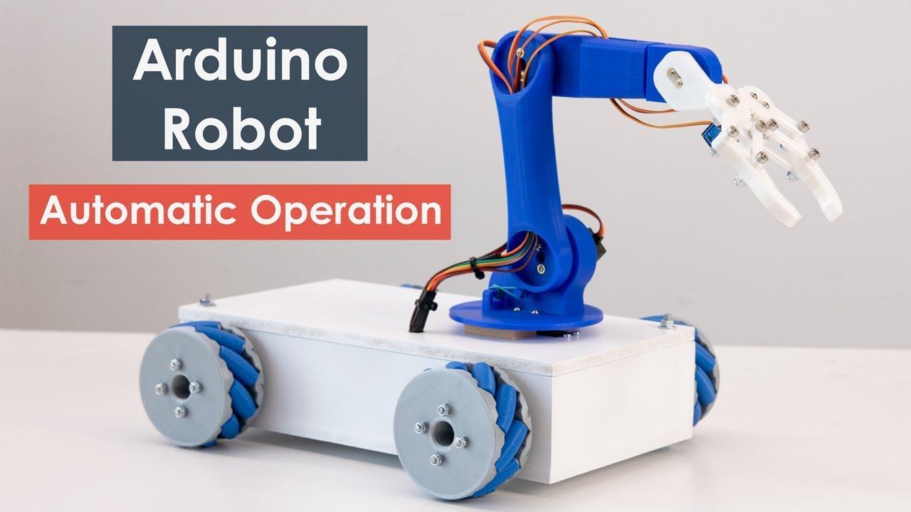 Arduino Robot Arm and Mecanum Wheels Platform Automatic