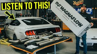 Building and Heavily Modifying a 2020 Ford Mustang GT: Part 3: Magnaflow Exhaust System (4K)