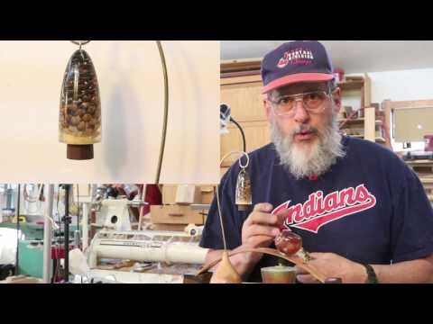 Turning a Cast Resin Christmas Ornament: 2016  Sam Angelo