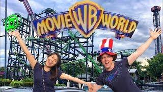 Dwaine and Shanta go to a Theme Park in Australia MOVIEWORLD!!