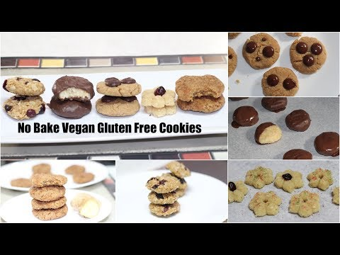 5 No-bake Vegan Gluten Free Cookies Video Recipe | Bhavna's Kitchen