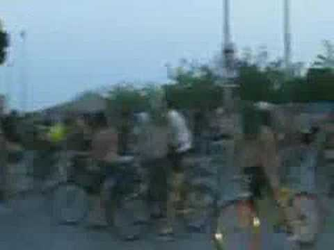 Naked bike ride in Thessaloniki, 27/6/08