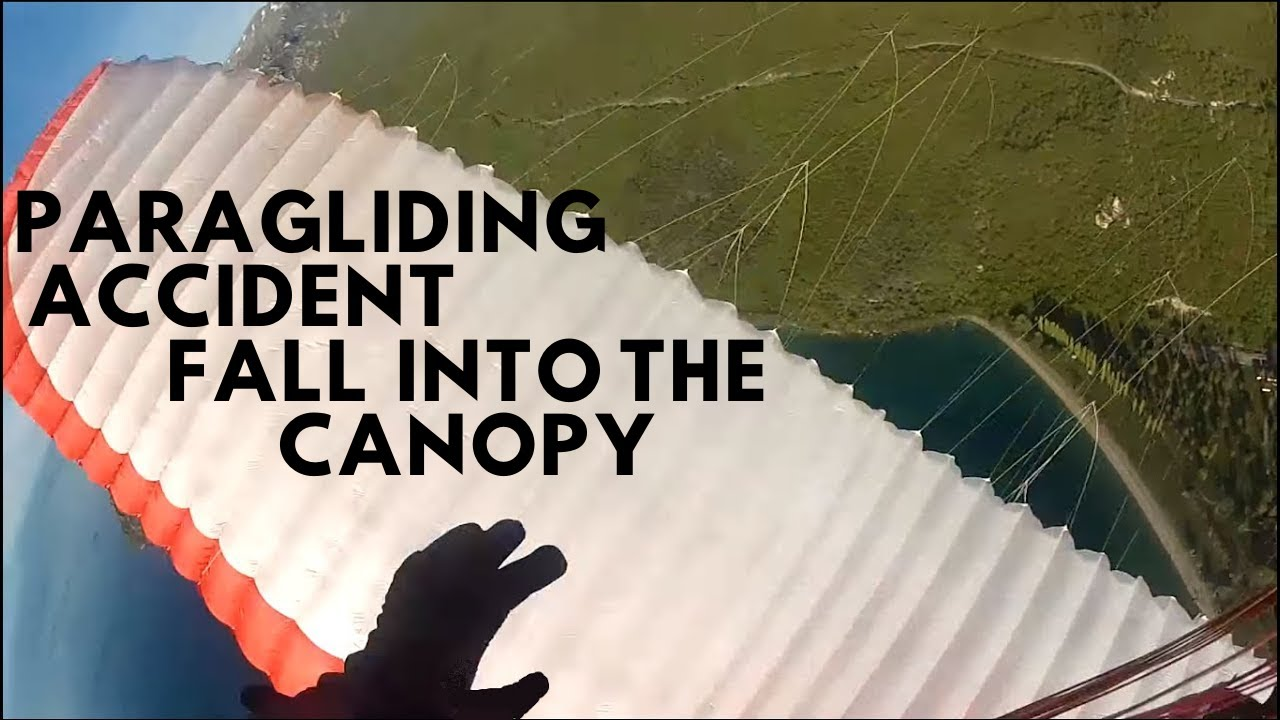 Paragliding accident- fall into the canopy, reserve entangled, SIV course, crash