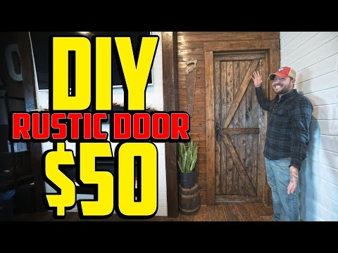 Shed to house – DIY farm door for less than $50 start to finish