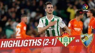 Resumen de Real Betis vs Málaga CF (2-1)