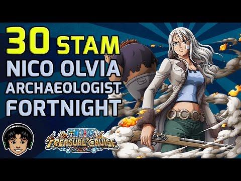 Walkthrough for Nico Olvia The Archaeologist 30 Stamina Fortnight [One Piece Treasure Cruise]