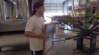 Here is a little Snip-it of our lead screen printer teaching kids h...