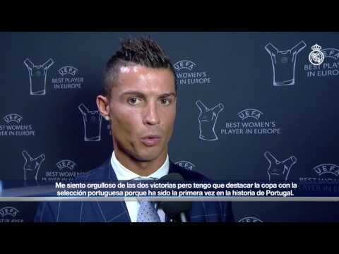 "Cristiano Ronaldo: ""It's a great honour after an incredible season"""