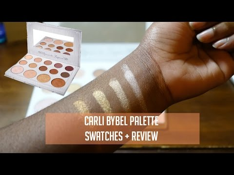 Carli Bybel x BH Cosmetics Palatte Swatches & Review | dark skin