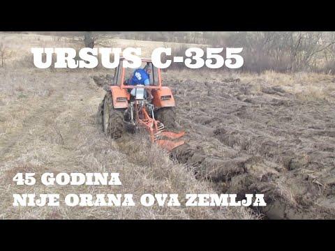 URSUS C 355 ORANJE (LEDINA 45 GODINA NIJE ORANA NJIVA)