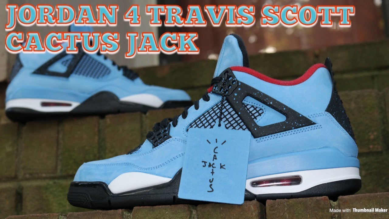 3b99cfdadebe Air Jordan 4 Travis Scott Cactus Jack Houston Oilers Review   On Feet