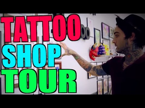 TATTOO SHOP TOUR!! (The California Dream) - YouTube