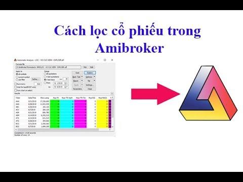 Cách sử dụng bộ lọc cổ phiếu trong Amibroker