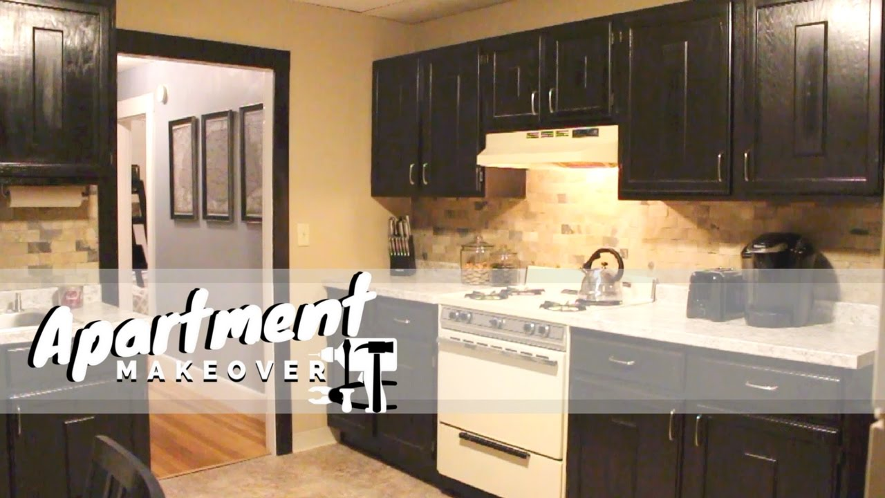Kitchen || Apartment Makeover - YouTube