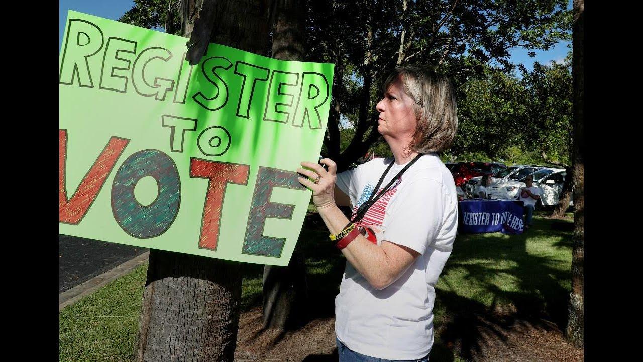 Emma Gonzales' mother hosts a voter registration drive in Parkland